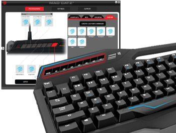 clavier gamer mécanique Mad Catz S.T.R.I.K.E. TE