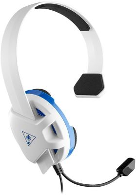 Casque Gamer turtle beach recon chat ps4 blanc
