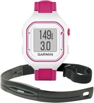 Montre sport GPS Garmin Forerunner25 Blanc/Rose +Ceinture cardio