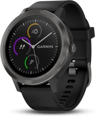 garmin vivoactive 3 gray noir montre gps boulanger. Black Bedroom Furniture Sets. Home Design Ideas