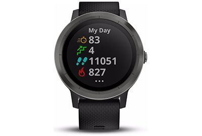 montre connect e sport garmin vivoactive 3 gray noir. Black Bedroom Furniture Sets. Home Design Ideas