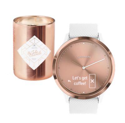 Bracelet connecté Garmin coffret vivomove HR + bougie/bijou