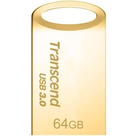 Clé TRANSCEND 64Go JetFlash 710, Gold Plating USB 3.0