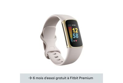 Tracker FITBIT Charge 5 Or pale Blanc lu