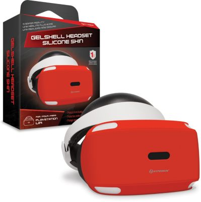 Protection Casque hyperkin housse silicone rouge pour psvr