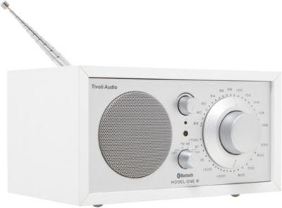 Radio analogique Tivoli Model One BT Blanc/Argent