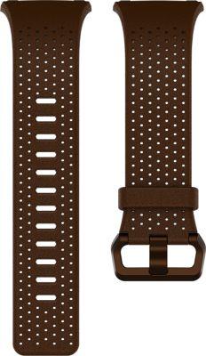 Bracelet Fitbit cuir perforé cognac small - ionic
