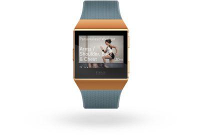 Montre sport FITBIT Ionic orange/bleu