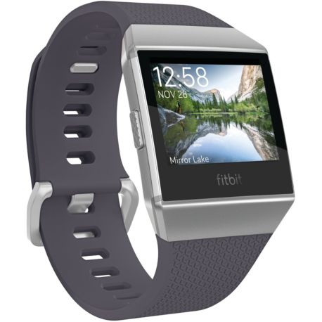 montre connect e sport fitbit ionic bleu gris. Black Bedroom Furniture Sets. Home Design Ideas
