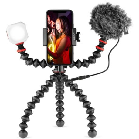 Pied flexible JOBY Kit vlog 3en1 Trepied + Lumiere + Micro