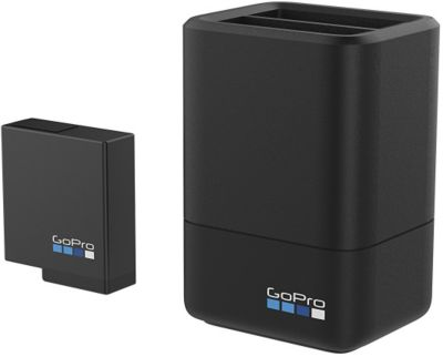 Chargeur secteur Gopro Double + Batterie Hero5 Hero6 Black