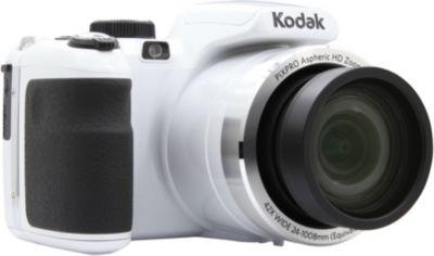 Appareil photo Bridge Kodak PixPro AZ421 blanc + Carte SD Essentielb 32Go SDHC Loisirs