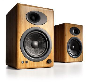 Enceinte bibliothèque Audioengine A5+ Solid banboo X2