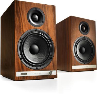 Enceinte bibliothèque Audioengine HD6 Noyer X2