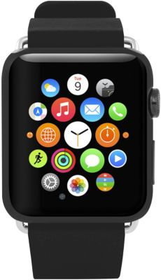 Bracelet Incipio premium cuir apple watch 42mn noir