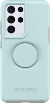 Coque Otterbox Samsung S21 Ultra Pop Symmetry bleu