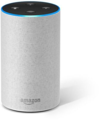 Assistant Vocal amazon echo 2 tissu sable + assistant vocal amazon echo 2 tissu anthracite