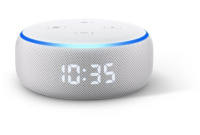 Assistant vocal AMAZON Echo Dot 3 avec Horloge Sable