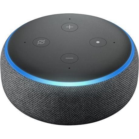 assistant vocal amazon echo dot 3 noir. Black Bedroom Furniture Sets. Home Design Ideas
