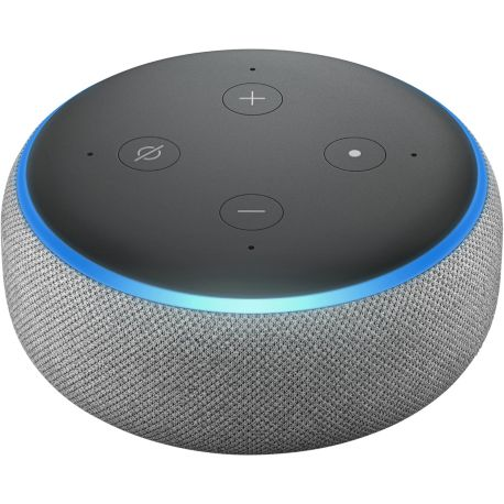 assistant vocal amazon echo dot 3 gris. Black Bedroom Furniture Sets. Home Design Ideas