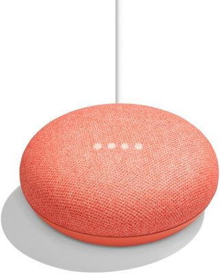 Assistant Vocal google home mini - corail