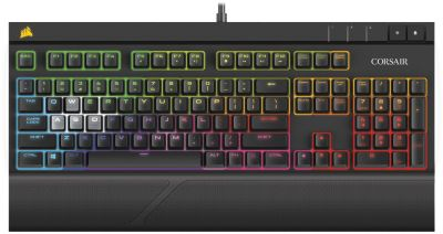 Clavier Gamer corsair strafe cherry mx rouge - rétroéclairage