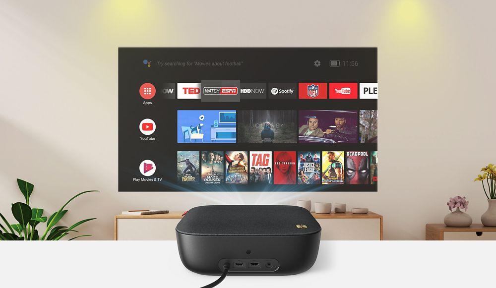Vidéoprojecteur avec Android TV