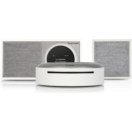 Micro chaîne TIVOLI M1D/Cube/MCD Wireless CD Combo blanc