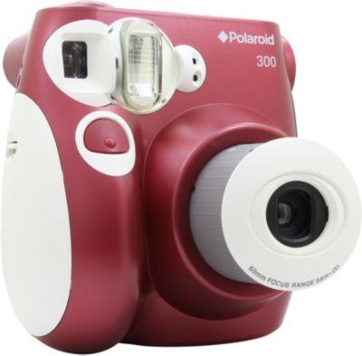 Appareil Photo instantané polaroid pic 300 rouge + papier photo instantané polaroid 10 feuilles pour pic 300