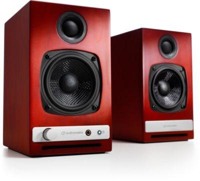 Enceinte bibliothèque Audioengine HD3 Merisier X2