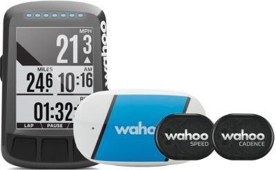 GPS de loisirs Wahoo Fitness ELEMNT BOLT pack avec TICKR, RPM Vitesse