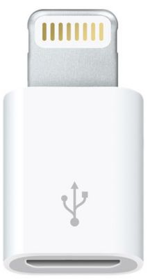 Adaptateur Lightning apple lightning vers micro usb