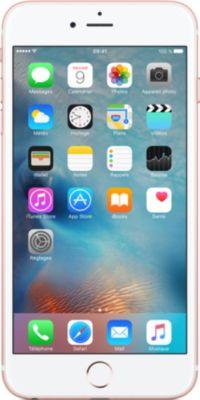 Smartphone Apple iPhone 6s Plus Rose Gold 128Go + Coque Apple iPhone 6/6s Plus cuir noir