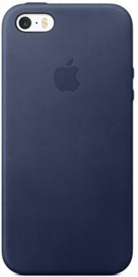 Coque Apple iPhone 5/5S/SE cuir bleu nuit + Smartphone Apple iPhone SE 32Go Gold