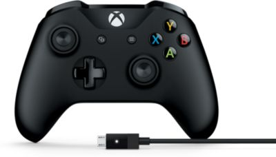 Manette Microsoft sans fil Xbox + câble PC