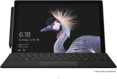 PC Hybride Microsoft Pack SP4 Core M 128Go + Type Cover