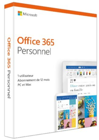Logiciel MICROSOFT Office 365 Personnel