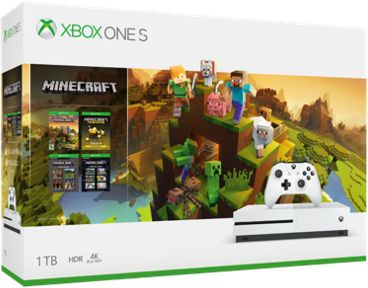 Console Xbox one s microsoft 1to minecraft créateurs