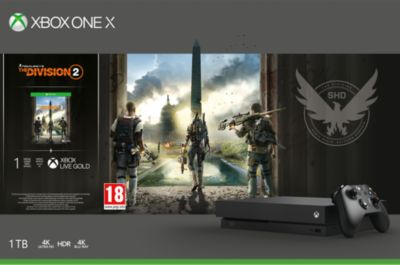Console Xbox one x microsoft 1to the division 2