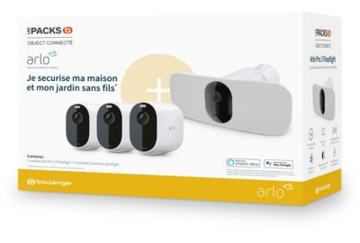Caméra ARLO Pack Boulanger Pro 3 Floodli