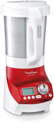 Blender chauffant Moulinex Soup-Co 2L rouge + pani...