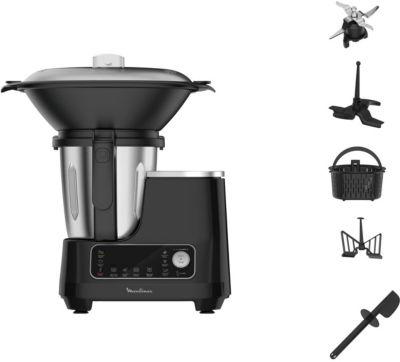 Robot cuiseur Moulinex Clickchef noir HF456810 + cuiseur...