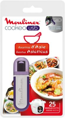 Livre De Cuisine Cle Usb Cookeo 25 Recettes D Asie Moulinex