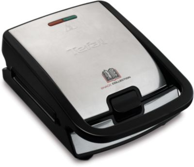 Tefal snack collection sw857d12 gaufrier croque monsieur boulanger - Gaufrier tefal snack collection ...