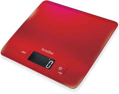 Balance de cuisine terraillon carré inox rouge