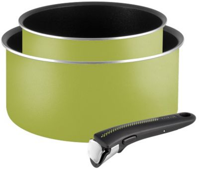 tefal casseroles ingenio essential vert 3 pces batterie. Black Bedroom Furniture Sets. Home Design Ideas