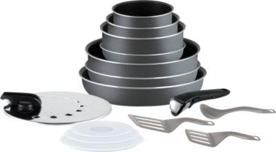 Batterie de cuisine tefal ingenio minute gris 15p l2048802