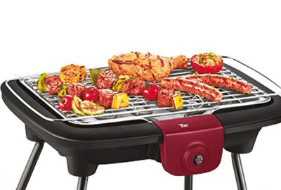 Tefal Bg904812 Easy Grill Pieds Barbecue Electrique Boulanger