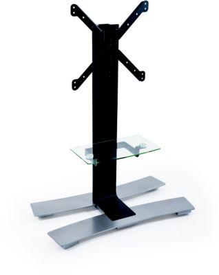 Meuble Tv erard will1050l 30-55p noir +tabl & roues