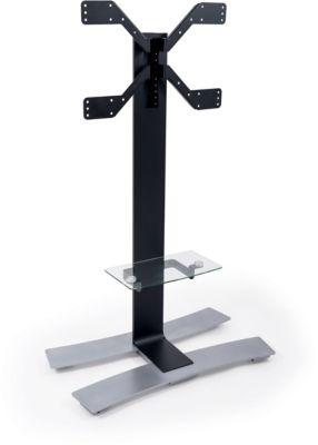 Support Meuble tv erard will1400xl 40-75p noir+tabl & roues
